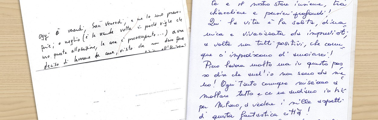 Uno sguardo alle scritture di Piero e Caterina…
